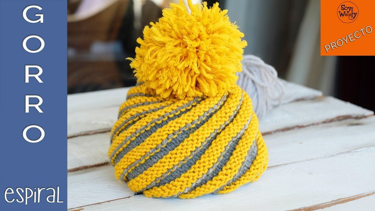 Gorro Espiral tejido en dos agujas (Todas las tallas) - Soy Woolly ...