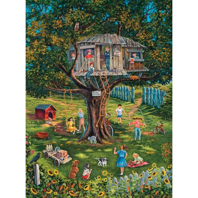 Bits and Pieces-300 Large Piece Puzzle-Summertime Memories-by Christine Carey