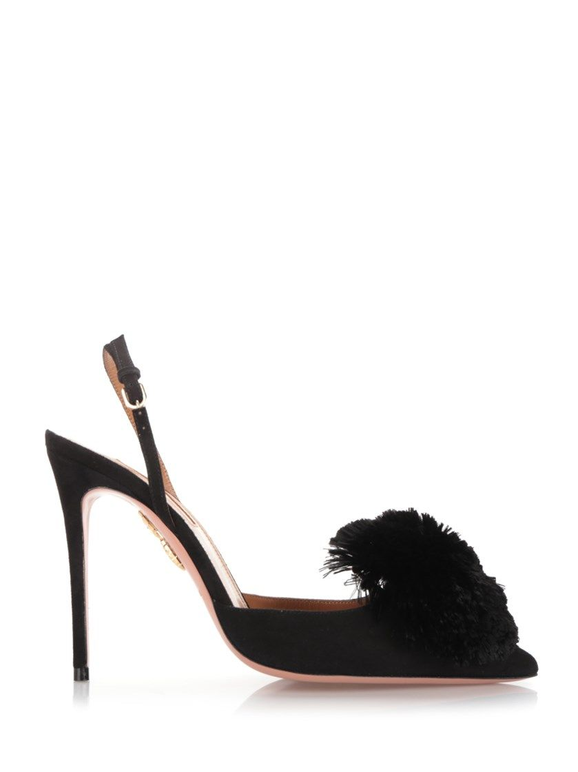 Black Powder Puff sandals Aquazzura kwihh
