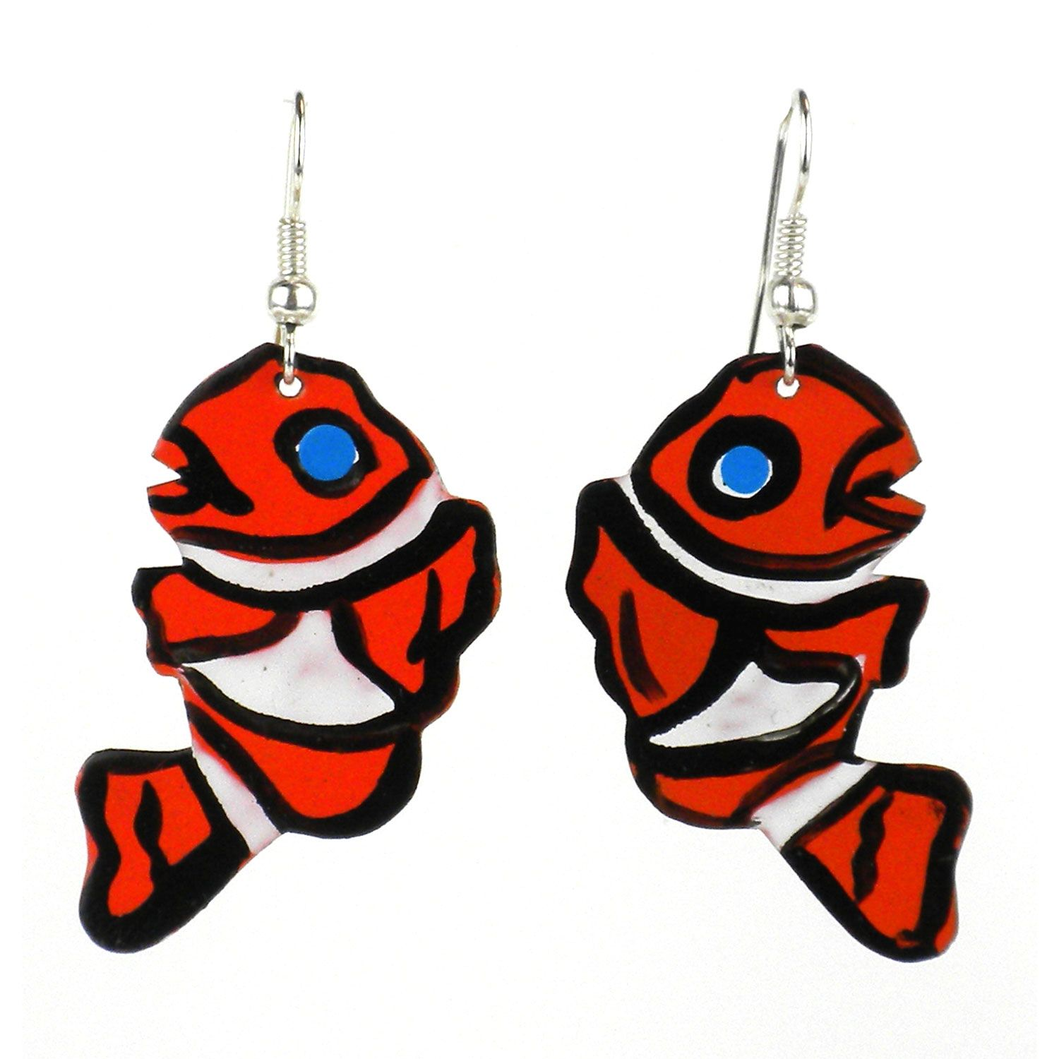 Painted Clown Fish Earrings The Takataka Collection