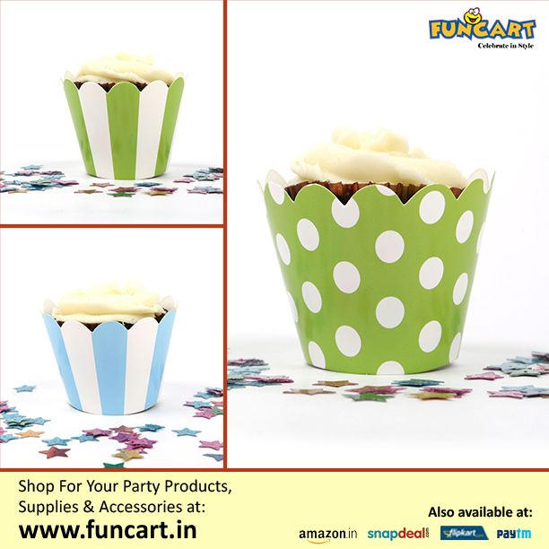Checkout wide range of CupCake Wrappers. Available at funcart- http://goo.gl/34CFEM http://www.funcart.in  #Funcart #Party #PartySupplies #Fun #PartyAccessories #PartyProducts