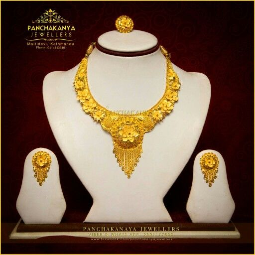 22k Gold Necklace Set Jewelleries Nepali Jewellery Gold Jewellery Silver Jewellery Instagram Weddin Gold Necklace Set Pricing Jewelry 22k Gold Necklace