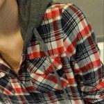 camisa xadrez feminina com capuz