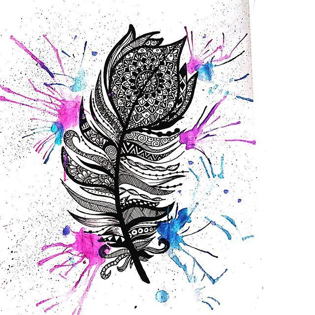 Feather Tattoo Design By Artistic Cupcake For Our Inked Tattoo Illustration Competition Tattoo Illustration Feather Tattoo Design Illustration Competitions