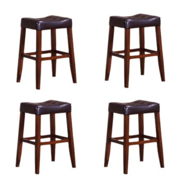 4 24 Saddle Back Espresso Kitchen Counter Bar Stools Kitchen Counter Bar Stools Home Bar Furniture