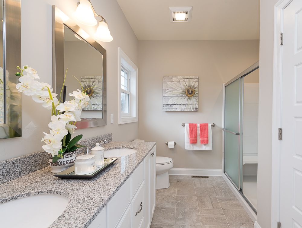 Model home bath decorated by PJ & Company (With images ...