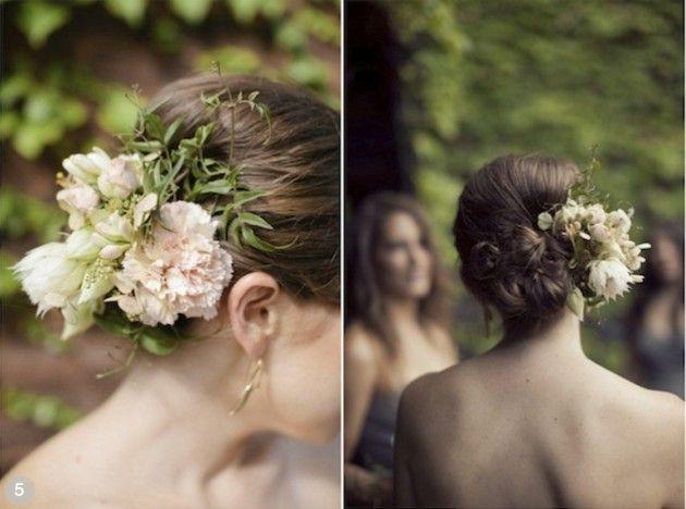 Outras formas de usar flores no cabelo!
