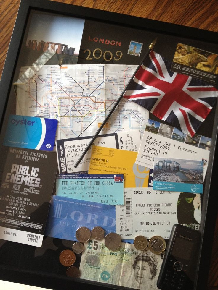 London Shadow Box Travel Shadow Boxes Memories Box Diy Travel Keepsakes