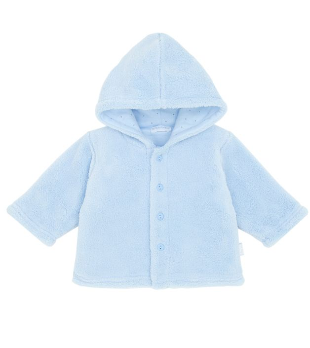 66933961c Le Top Outerwear Light Blue Plush Jacket for Baby and Infants with ...