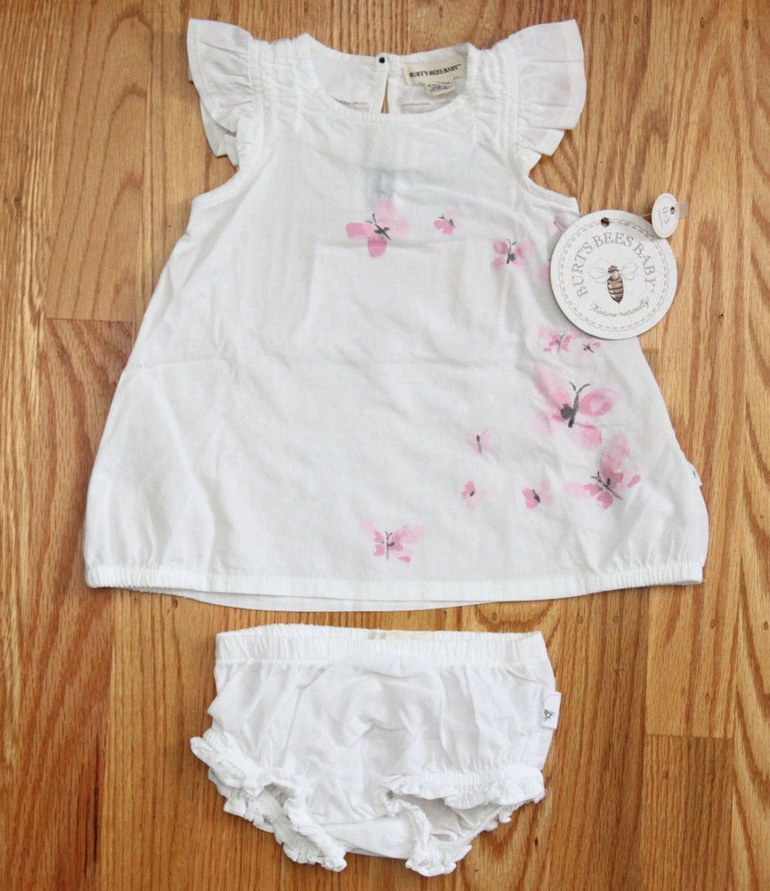 6dcd6bdec Burt's Bees Baby Girl Dress & Diaper Cover Set~White~Butterflies~0-3  Months~ #BurtsBees #DressyEverydayHoliday #spring