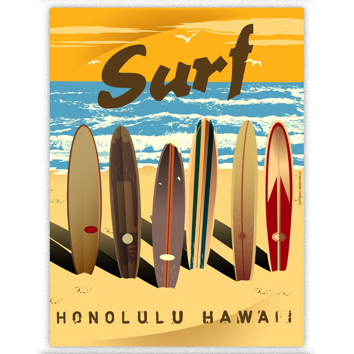 Honolulu #travel #hawaii #poster | Honolulu | Pinterest | Hawaii ...