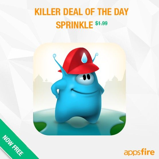 As announced a few hours ago in the App Pulse on Appsfire, the Apple App of the Week is Sprinkle