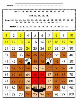 100 S Chart Mystery Picture Reindeer 100 Chart Hidden Pictures Chart