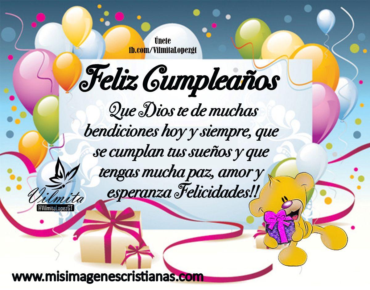 Feliz Aniversario En Espanol: Imágenes Cristianas De Feliz Cumpleaños –Felicidades En Tu