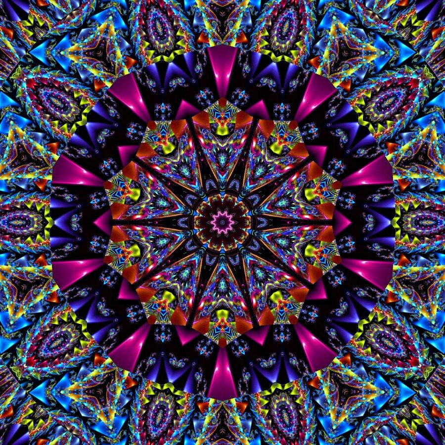 Color art kaleidoscope - Color Me Vivid Kaleidoscope By Tasteslikepurple