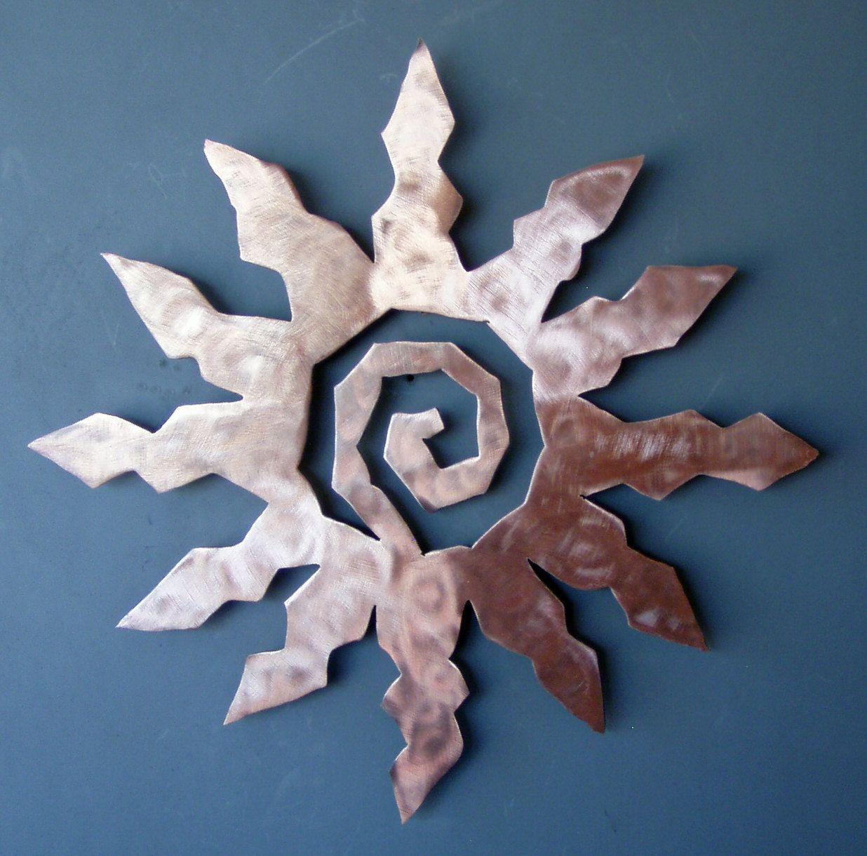 Star Tree Copper Patina Finish Metal Wall Art Hanging