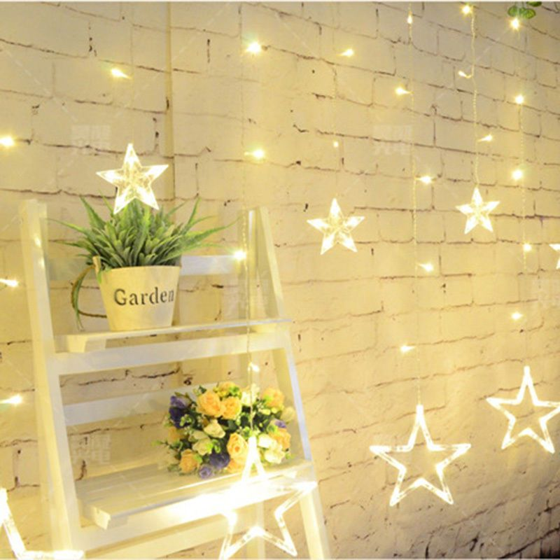138-LEDS Stars String Light Curtain Light for Christmas Wedding Party Home Decor #Unbranded