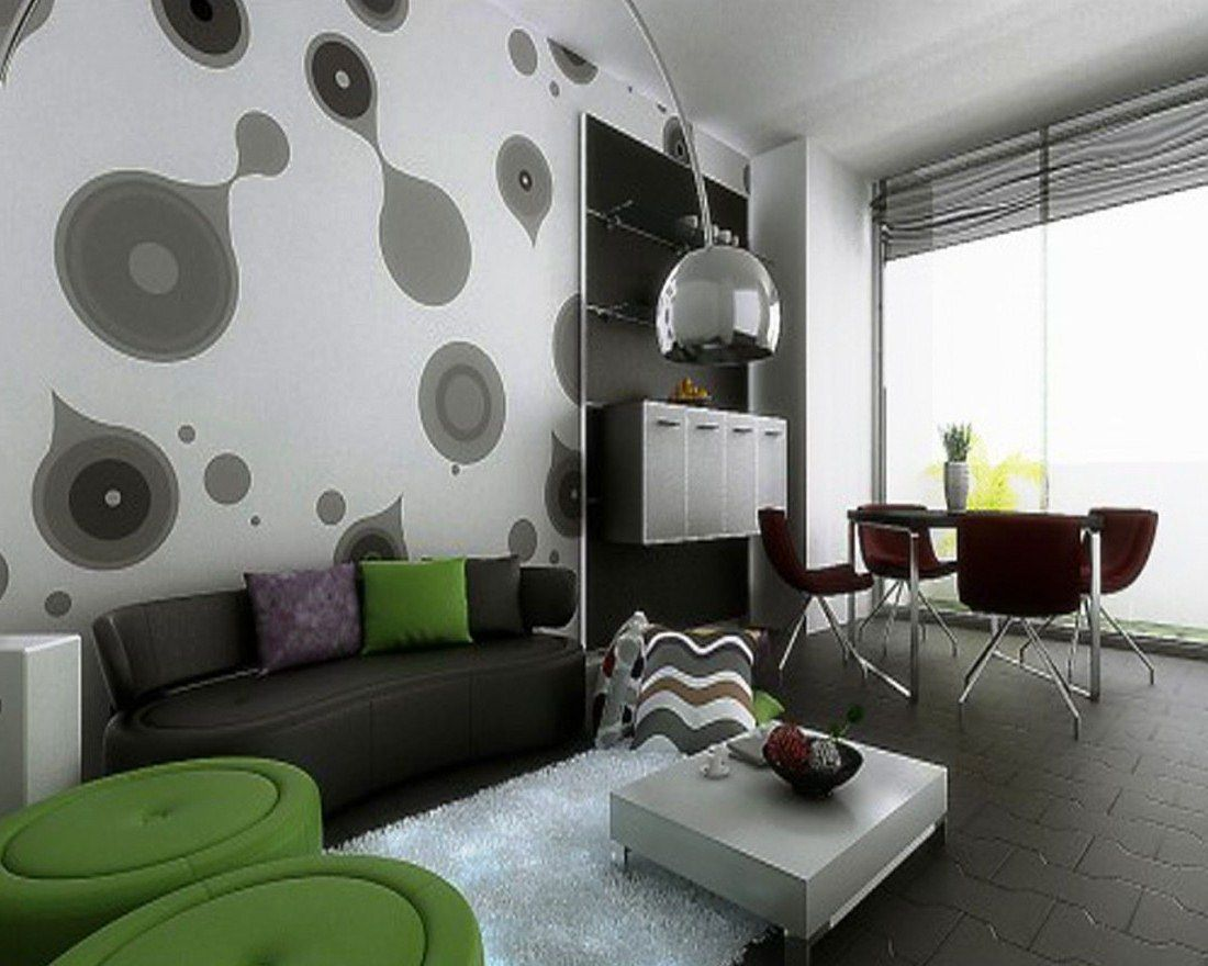 Contoh Wallpaper Dinding Ruang Tamu  Desain Minimalis  Pinterest Alluring Interior Designing Living Room Decorating Design