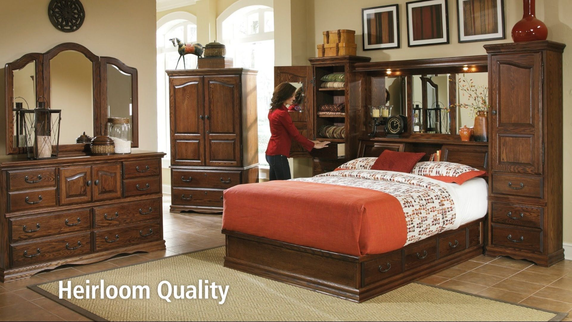 Oak bedroom furniture special features by furniture traditions