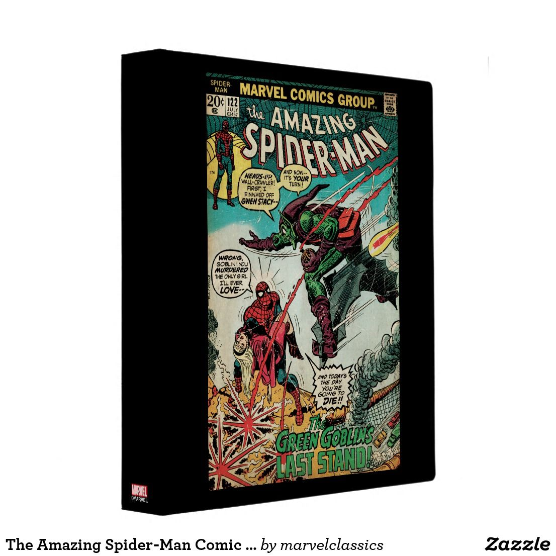 marvel comics 3 ring binder