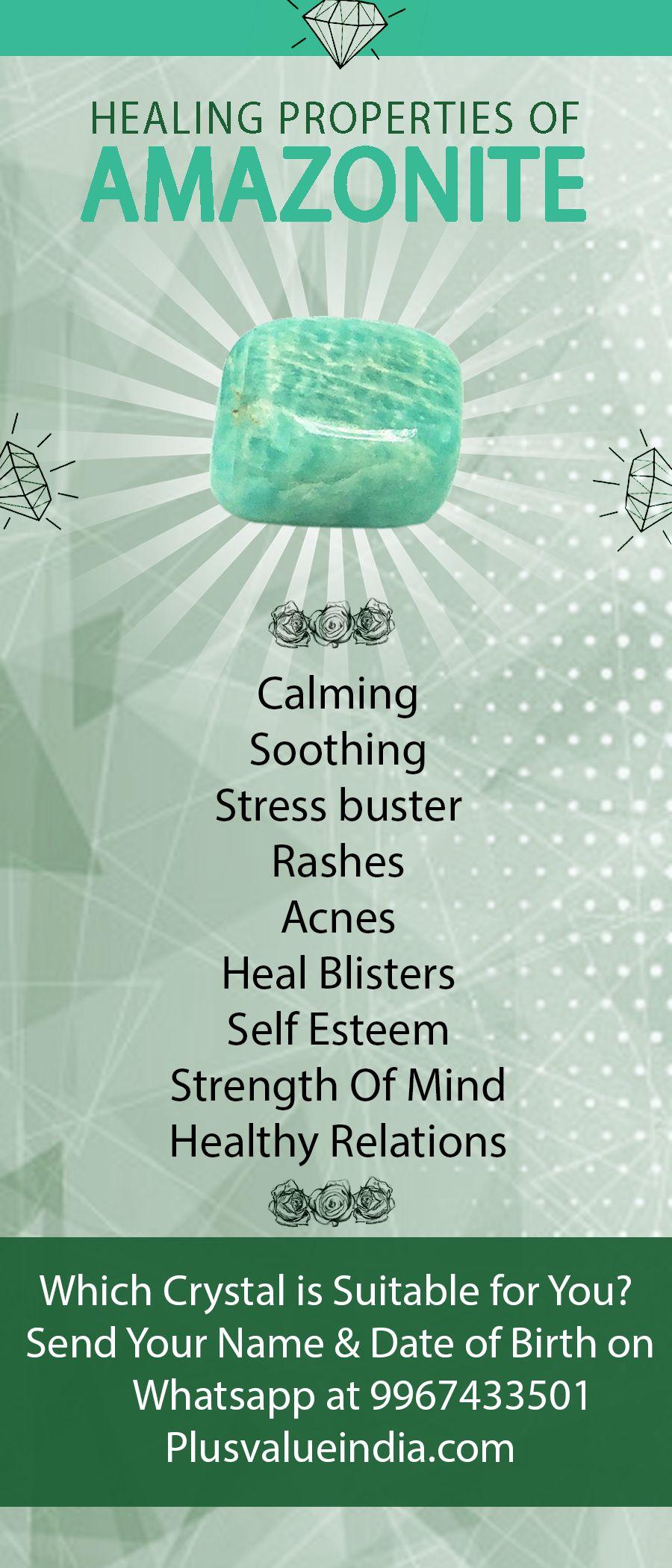 Amazonite Reiki Healing Crystal Stone Benefits Avec Images