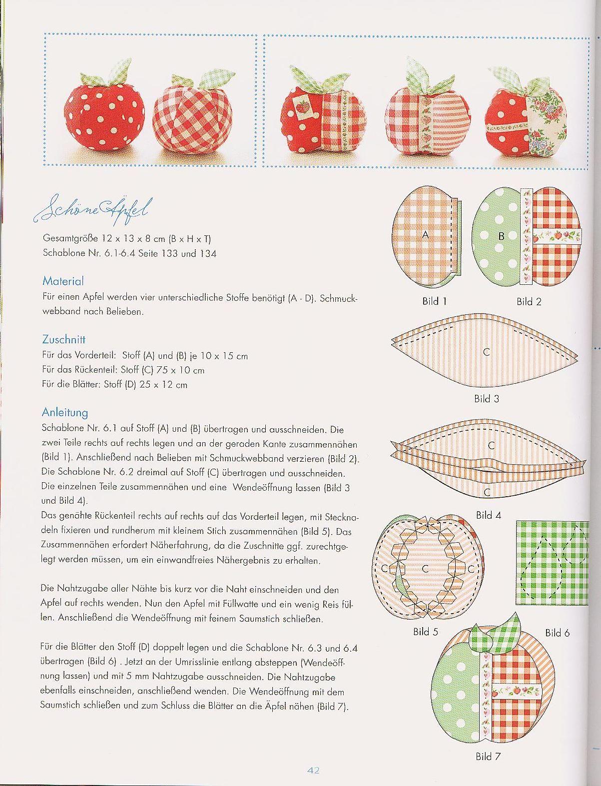 Apple Pincushion Pattern Pincushion Amp Sewing Kit Ideas