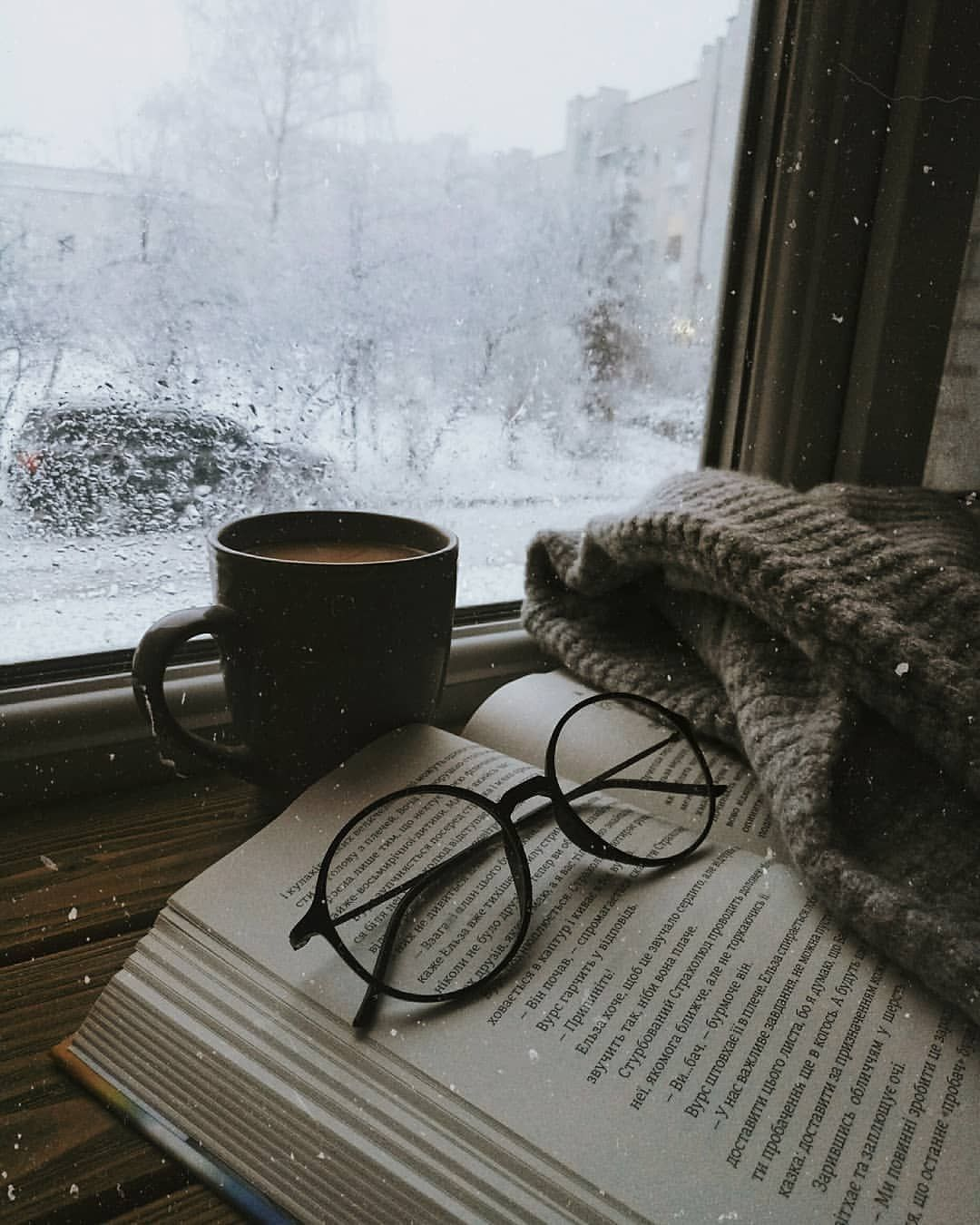 Don T You Just Love Having A Good Book With A Warm Cup Of Coffee When It S Snowing Winter Photography Book Photography Winter Aesthetic