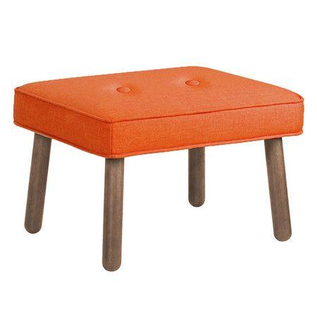 Ottoman Orange From Orla Kiely Ottoman Ottoman Footstool Furniture Design Modern