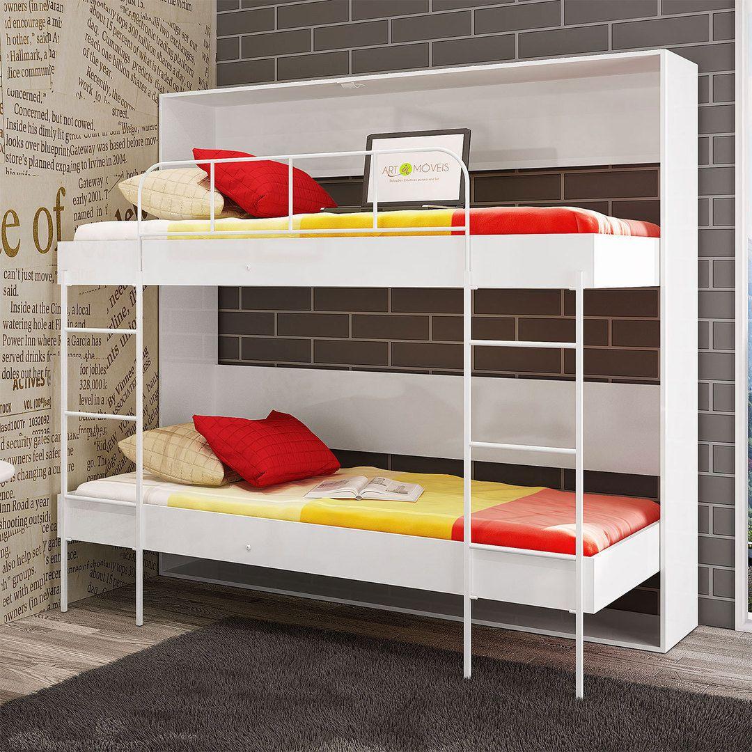 Pouco espaço não é desculpa para não ter conforto. Os beliches de parede são móveis compactos que possuem design moderno e deixam as noites de sono ainda mais gostosas. <3