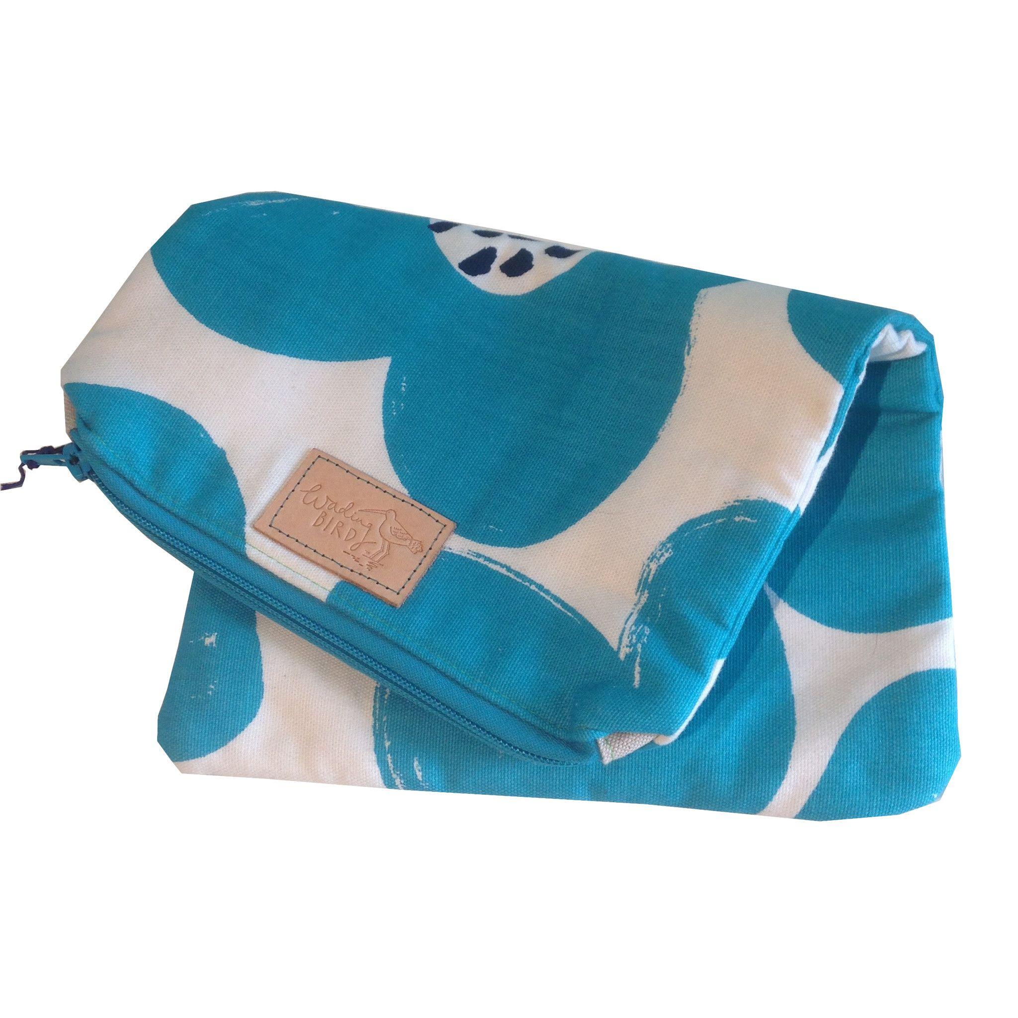 Wading Bird Handmade In Cornwall Folding Clutch Bag