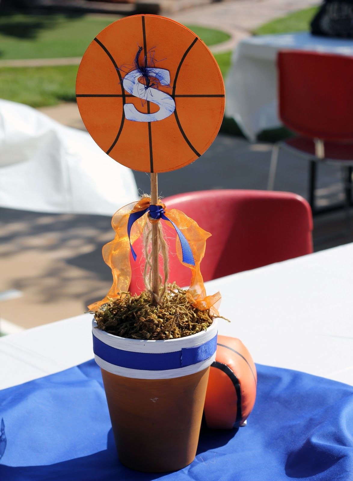 Basketball banquet centerpieces
