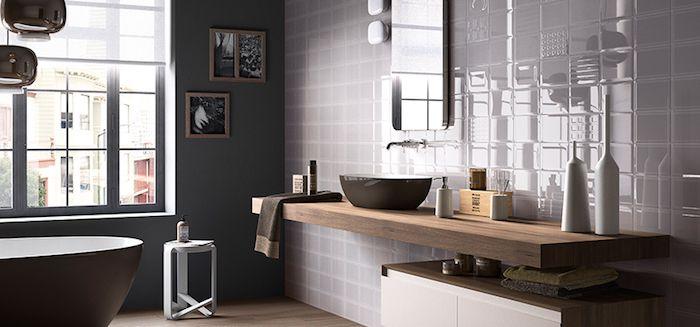 bäderideen, badezimmer in modernem landhausstil mit grauen - bad landhausstil