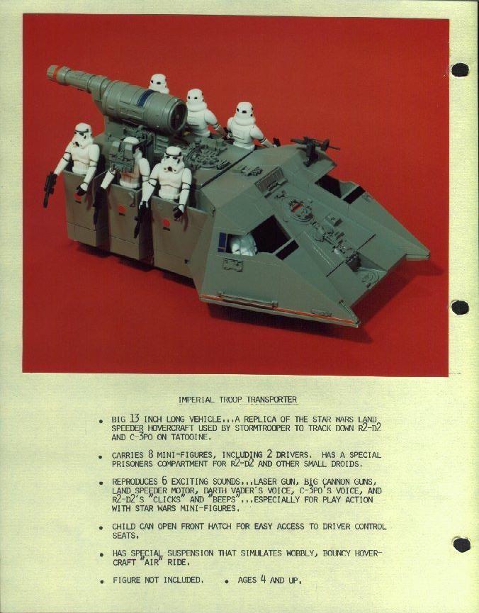Imperial Troop Transport Side Pod  ORIGINAL  Vintage Star Wars