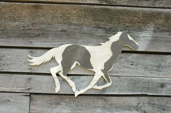 Horse Large Handmade Wood Sign Vintage Style Home by ShopHomegrown, $75.00
