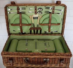 Wicker Picnic Basket made by Coracle for Harrods of London ...