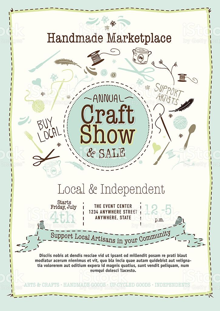 Craft Show And Sale Poster Design Template Graphics Commercial