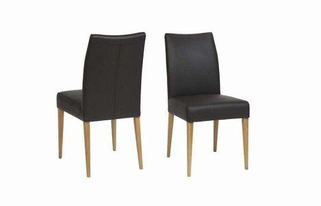 Schöner Design Stuhl Esszimmer mit Bezug in verschiedenen Stoff- und Lederarten, Modell Several.