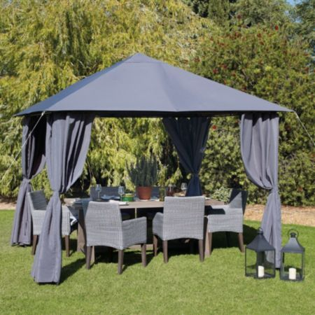 Blooma Shamal Metal Gazebo Assembly Required Image 1
