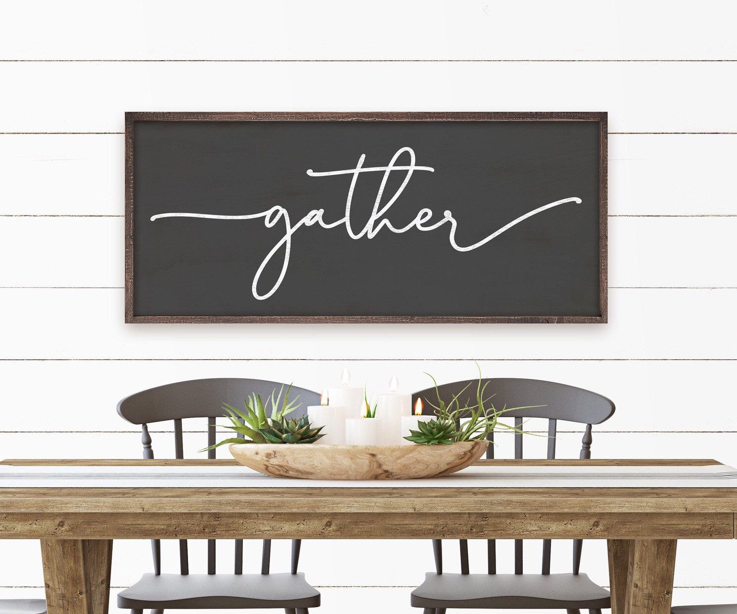 Classic Style Gather Sign Dining Room Sign Kitchen Wall Art
