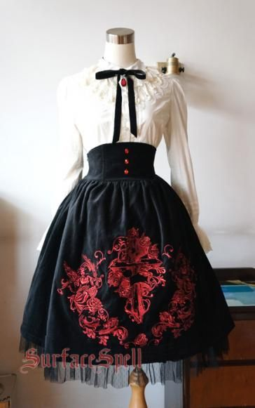 Surface Spell Judgement Day High-waisted Skirt [Black].