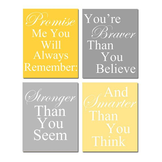 Set of Four 8x10 Coordinating Winnie The Pooh Quote by Tessyla ...