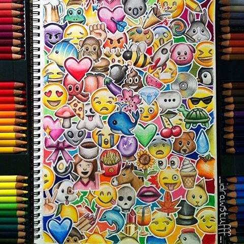 Comment Your Favorite Emoji! By @__idrawstufff__ _ @arts__gallery