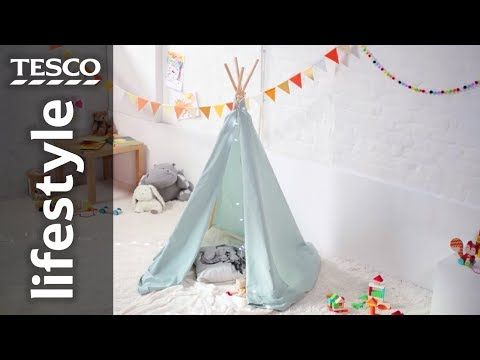 new product 7ae4a 972d2 How to make an indoor teepee for kids | Tesco - YouTube ...