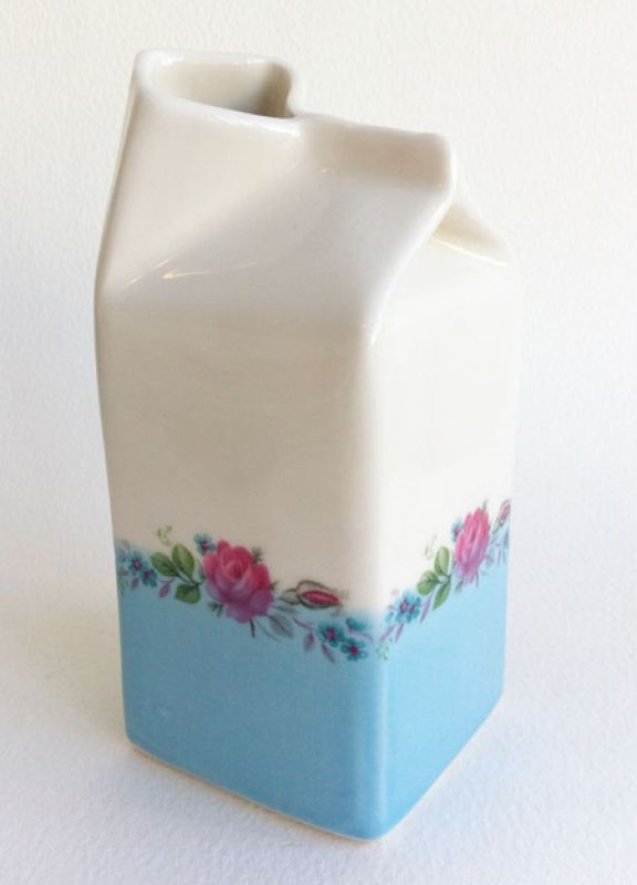 Porcelain Milk Carton Made By Hand Online