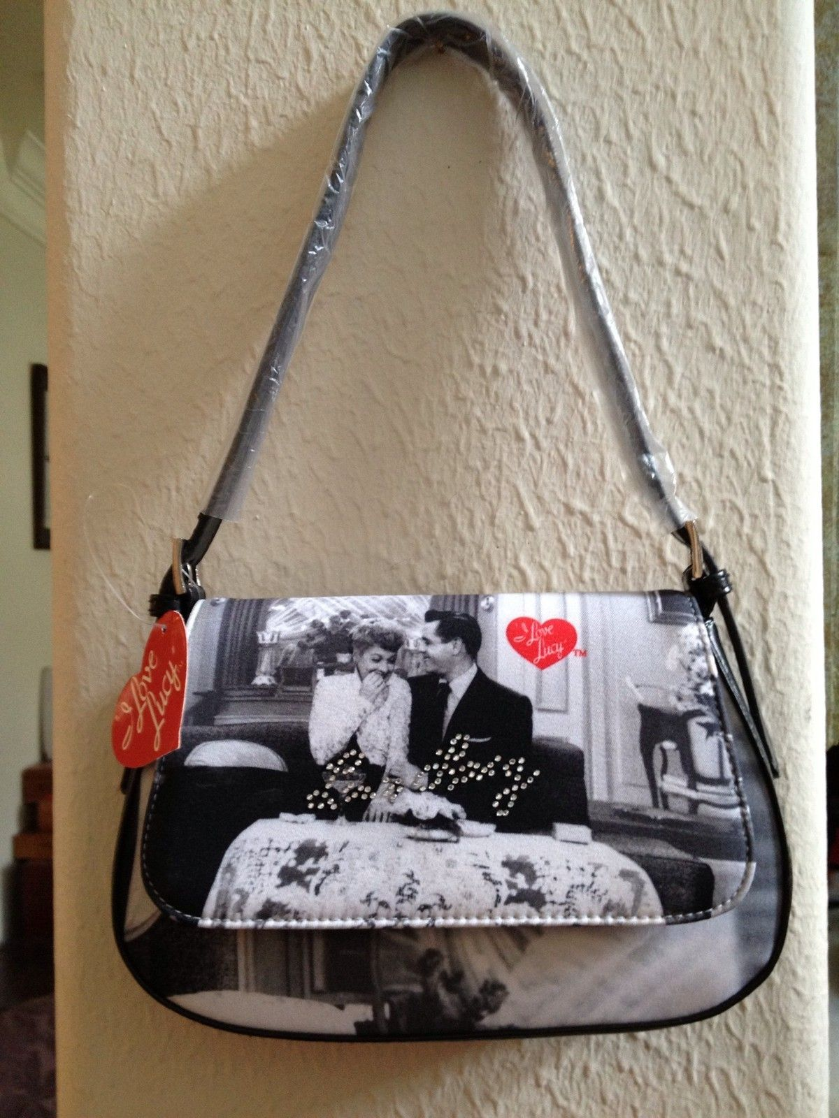"Vintage ""I Love Lucy"" Saddle Bag Purse with Matching"