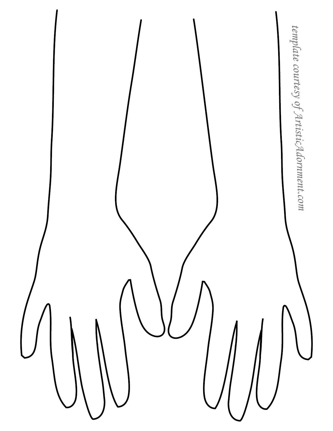 Free Henna Template - Backs of Hands - ArtisticAdornment.com ...
