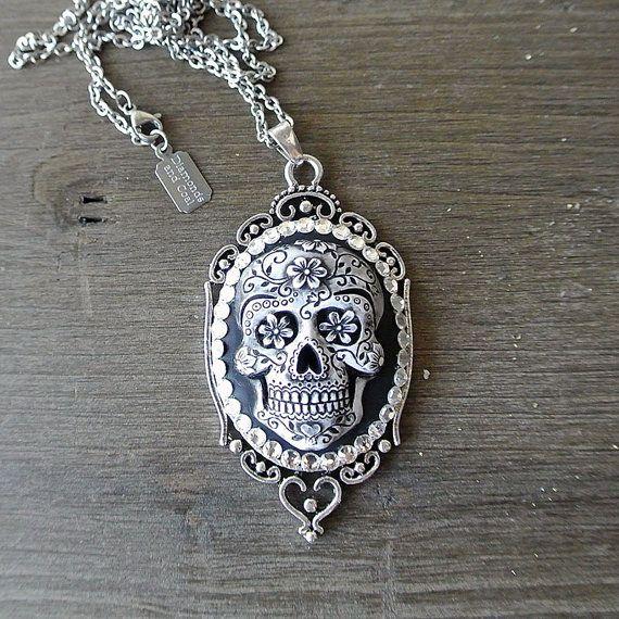 Day Of The Dead Necklace Dia De Los Muertos Sugar Skull