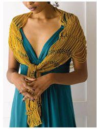 Beautiful Chain shawl. Definitely on my to do list