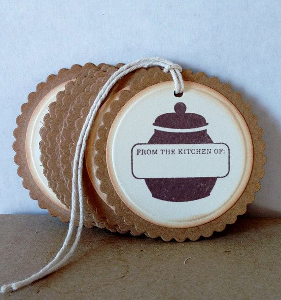 Hand Stamped Tags from the Kitchen of Jar Tags by Justabitofpaper, $4.50