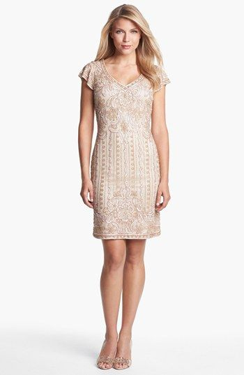 j kara embellished mesh sheath dress petite available at nordstrom